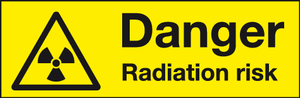 Danger Radiation risk labels