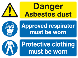 danger respirator protective clothing must be worn