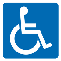 disabled door sign