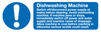Dishwashing machine sign