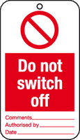 Do not switch off tags