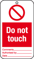 Do not touch tag