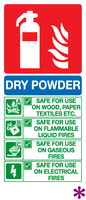 dry powder id sign