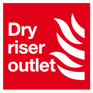 Dry riser outlet sign