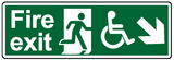 fire exit wheelchair access down right