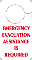 Emergency Evacuation assistance sign