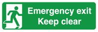 Emergency exit keep clear sign