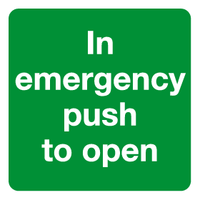push to open automatic door sign