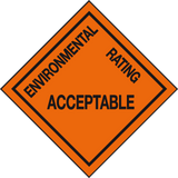 Environmental Rating Acceptable sign