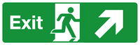 Exit diagonal right straight