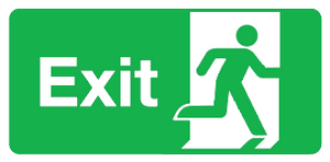 Final exit sign