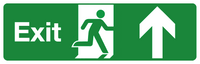 exit straight sign