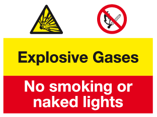 Explosive Gases sign