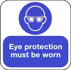 Eye Protection must be worn floor graphic sign