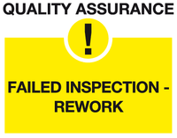 Failed inspection sign