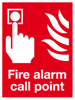 Fire Alarm call point sign vertical