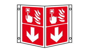 fire alarm call point projecting sign
