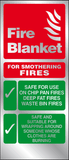 Fire blanket instructions prestige sign