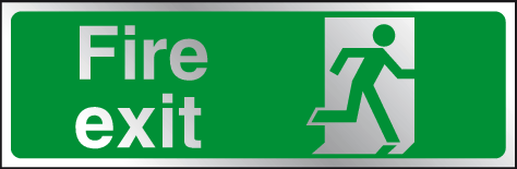 Fire exit prestige sign