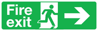 Fire exit right sign double sided hanging sign