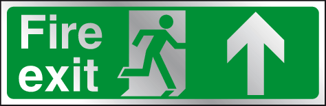 Fire exit straight ahead prestige sign