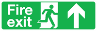 Large format straight ahead fire exit sign