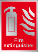 Fire extinguisher Prestige sign