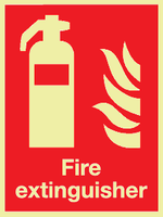 fire extinguisher photoluminescent