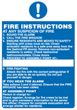 fire action sign for flats