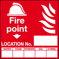 Fire point location No sign