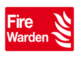 symbol and text Fire Warden sign