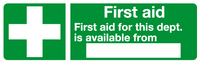 fire aid sign