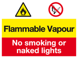 Flammable Vapour sign