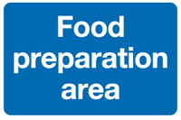 food preparation sign