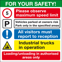 For your safety construction site safety sign