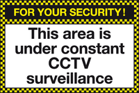 For your security This area is under contact CCTV surveillance sign