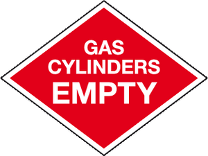 Gas Cylinders Empty Cylinder marking signs