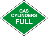 Gas Cylinders Full Cylinder marking signs