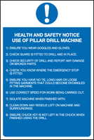pillar drill machine sign
