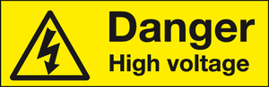 Danger High Voltage warning label