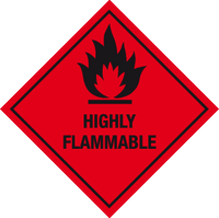 Highly flammable label