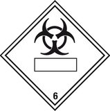 Infectious Substance label with blank space