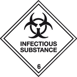 Infectious Substance Label