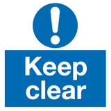 keep clear Automatic door sign