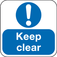 Keep Clear floor sign