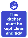 keep kitchen tidy sign