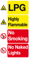 LPG Highly Flammable sign garage forecourt sign