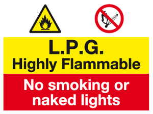 LPG Highly Flammable sign