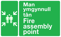 Man ymgynnull tan sign