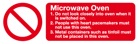 Microwave Oven Sign Prohibition Safety Signs Mjn